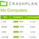 Crashplan Cloud backups