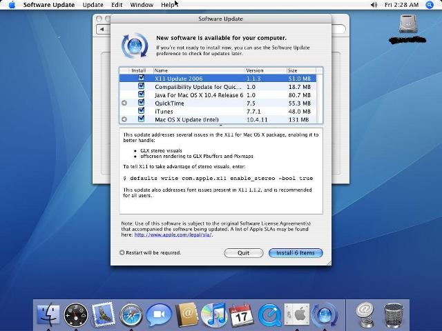 Updates OS X