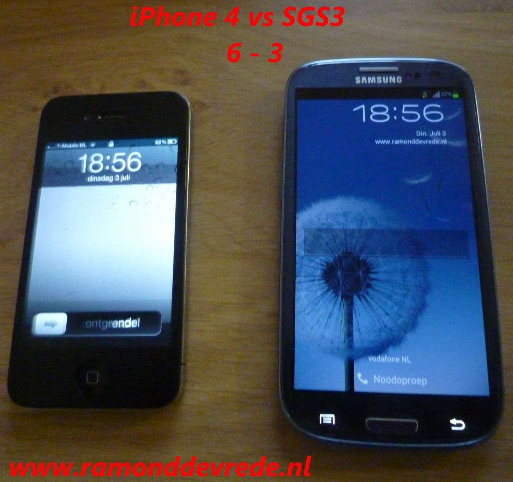 iPhone4 vs Samsung Galaxy SIII
